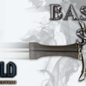 Espada medieval bastarda serie Stronghold, color metal
